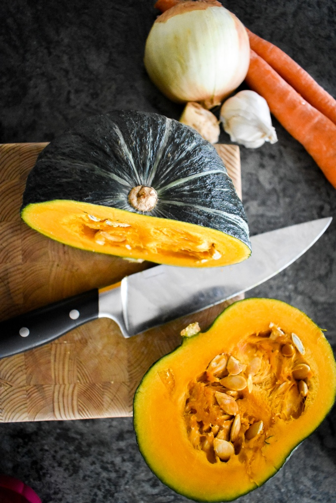 Spicy Roasted Kabocha Squash Soup