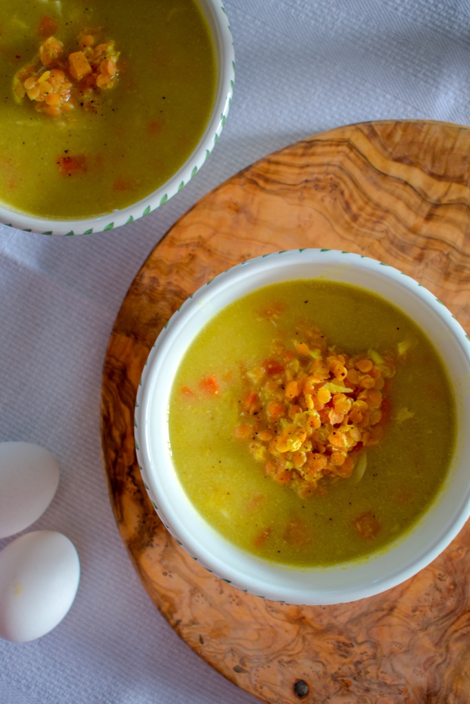 Lentil Egg Drop Soup